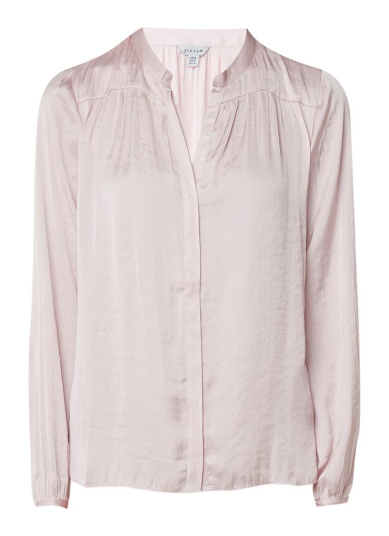 Jigsaw Crocus gedrapeerde blouse van satijn