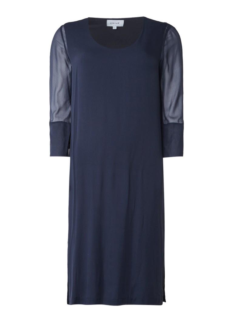 Jigsaw Jersey jurk met overlay van
