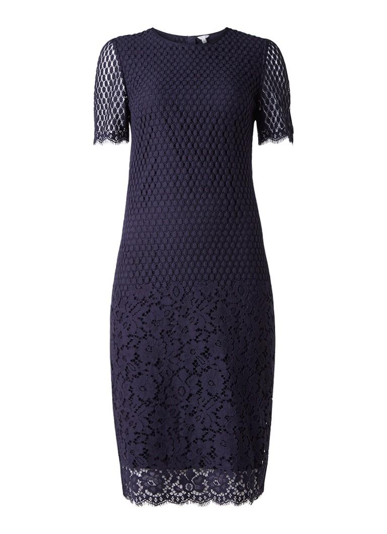 Jigsaw Midi-jurk van kant donkerblauw