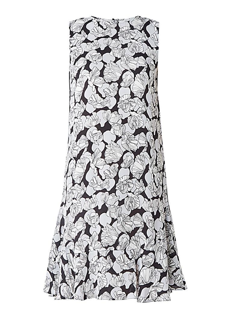 Jigsaw Poppy Fields jurk met bloemendessin grijs