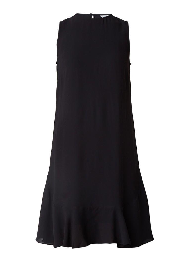 Jigsaw Ruffle jurk met volant aan onderzijde zwart