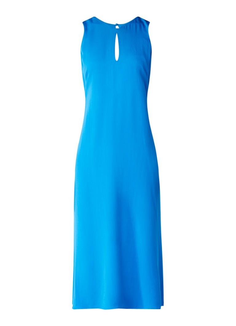Jigsaw Maxi-jurk met key-hole detail blauw