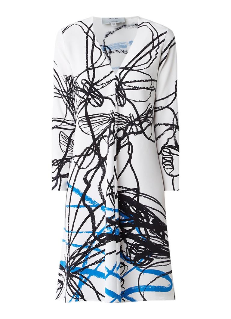 Jigsaw Marcus James Butterfly Series jurk van zijde wit
