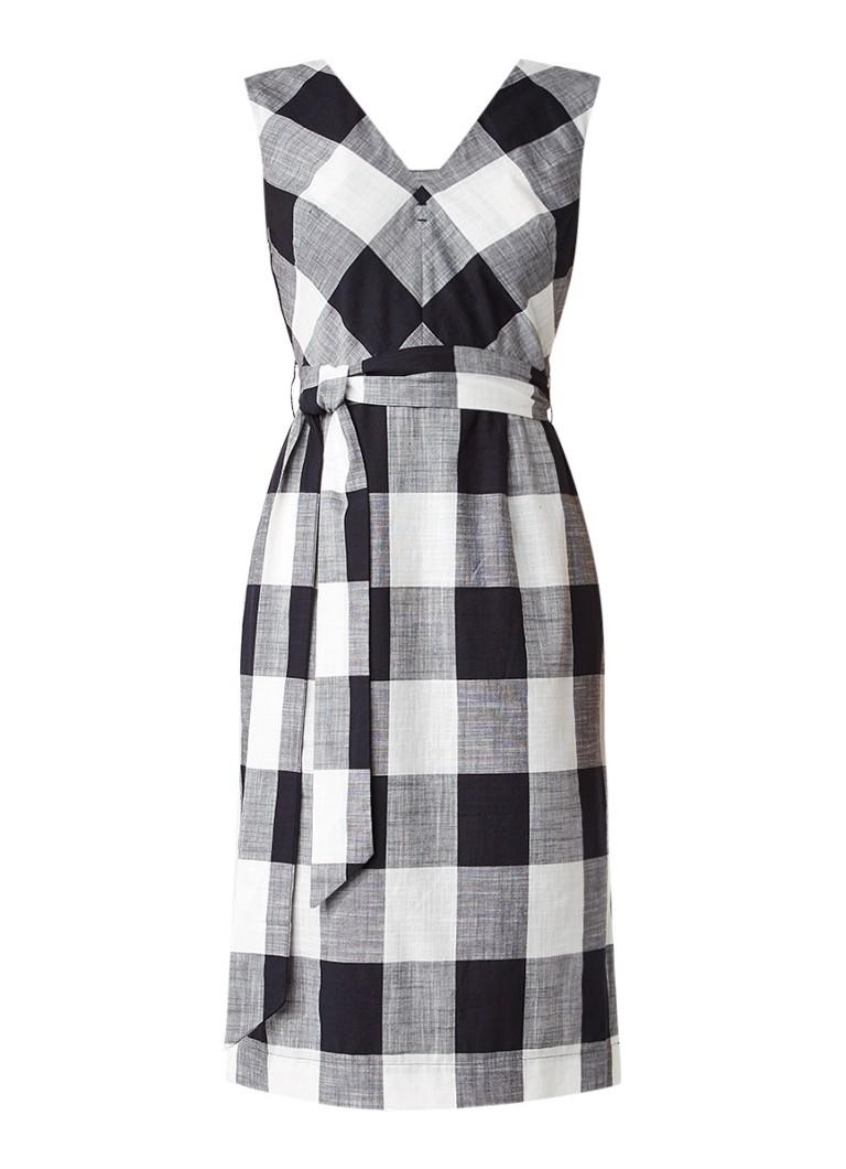 Jigsaw Feather A-lijn jurk met gingham-ruit zwart