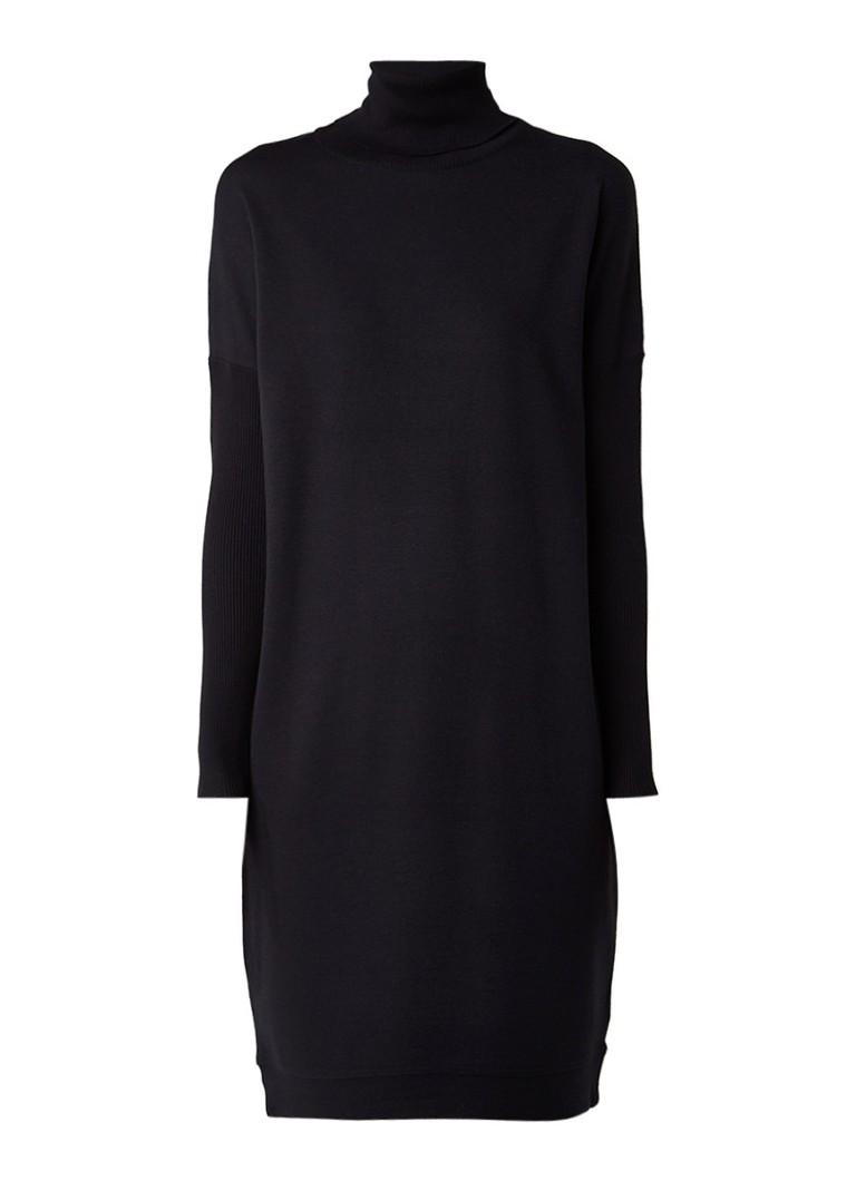 Jigsaw Slouchy coltrui jurk in wolblend zwart