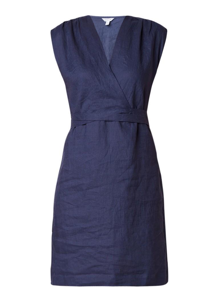 Jigsaw Tuniekjurk van linnen donkerblauw