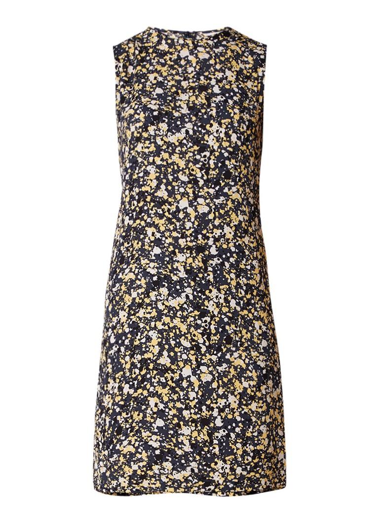 Jigsaw Splatter mouwloze midi-jurk met dessin geel