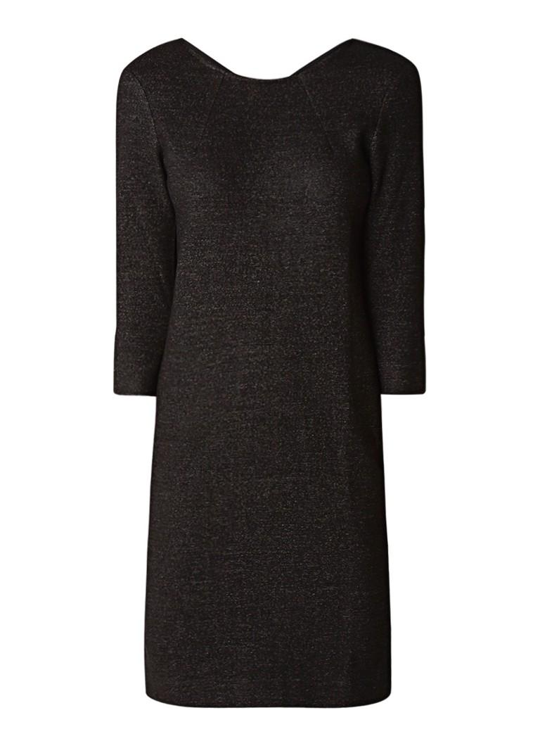 Jigsaw Gebreide jurk in wolblend antraciet