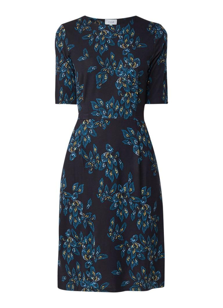 Jigsaw Jersey jurk met bloemendessin donkerblauw