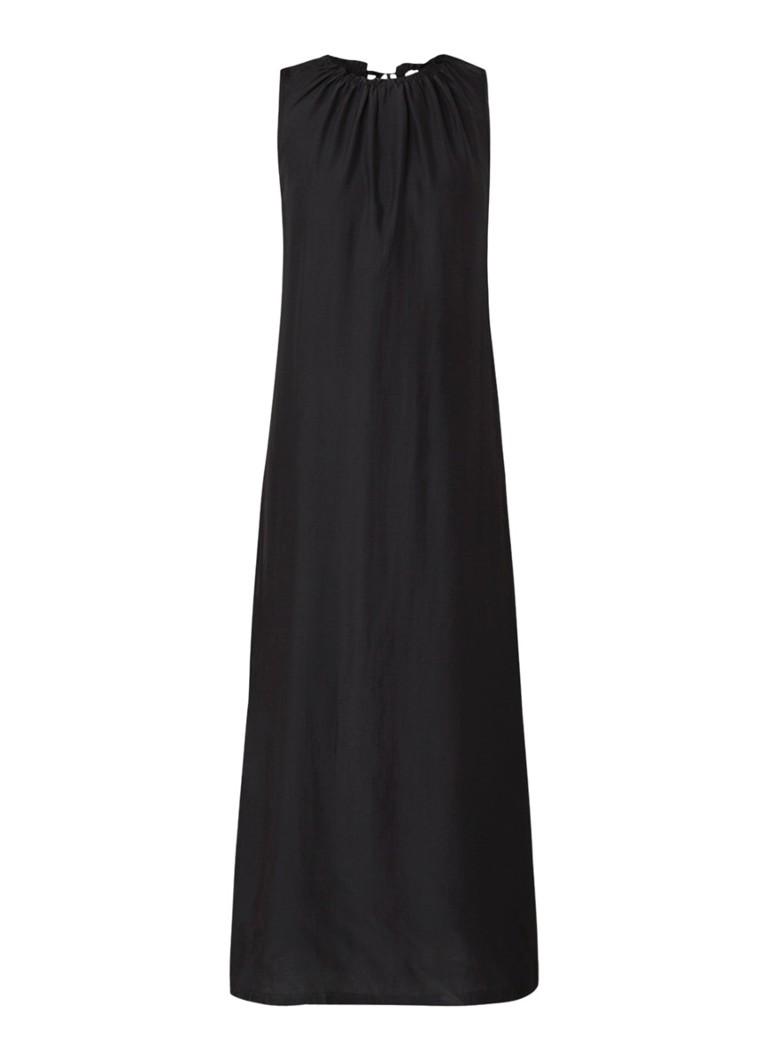 Jigsaw Mouwloze maxi-jurk met keyhole zwart