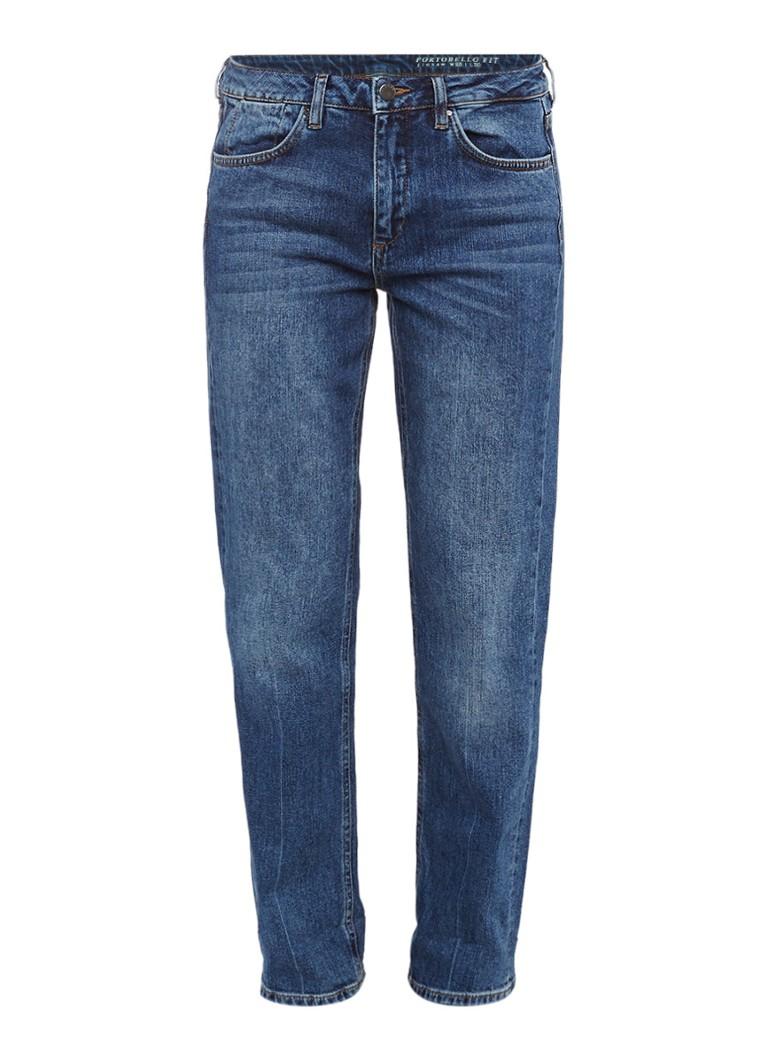Jigsaw Portobello Turn Up straight fit jeans met medium wassing