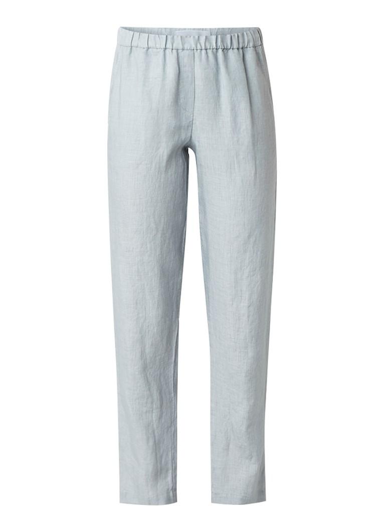 Jigsaw Chino van linnen met elastische tailleband