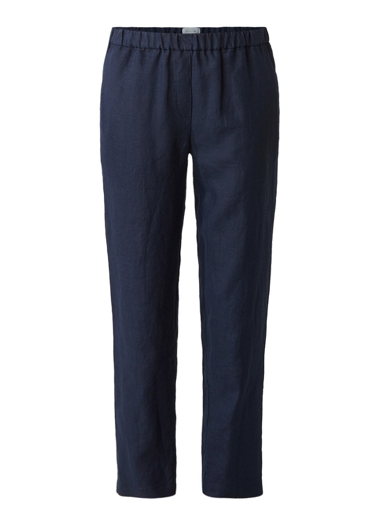 Jigsaw Loose fit broek van linnen met elastische tailleband