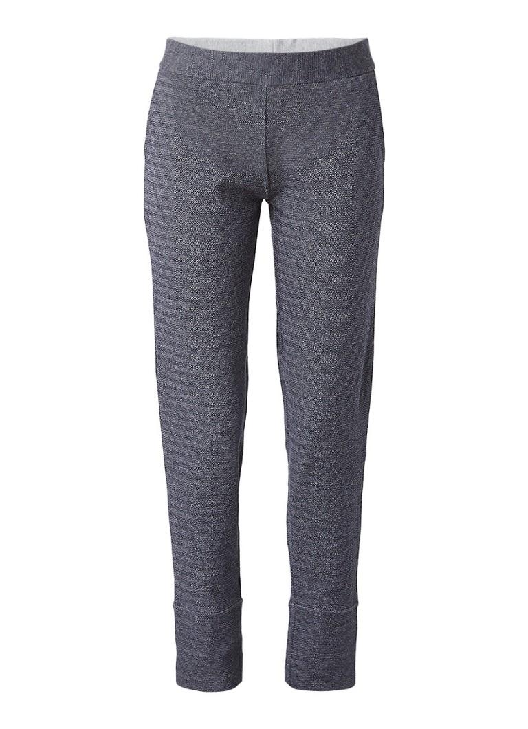 Jigsaw Pantalon van sweatstof met visgraatdessin