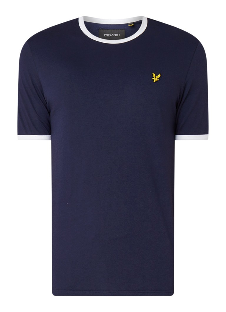 Lyle & Scott Ringer T-shirt met contrasterende boord