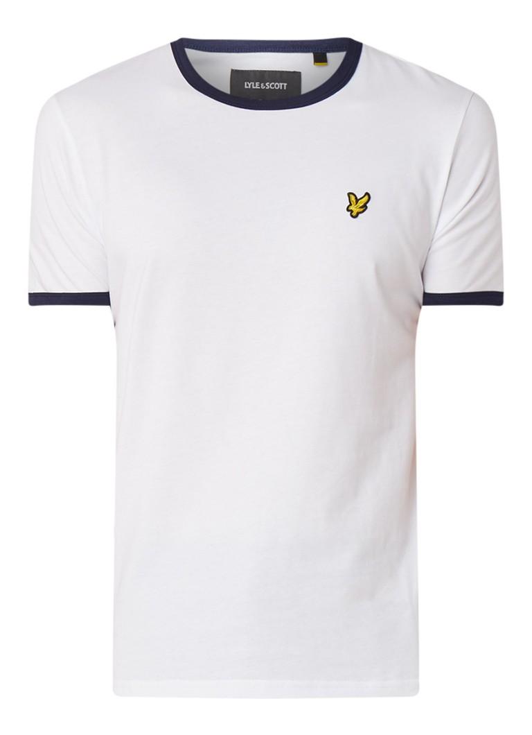 Image of Lyle & Scott T-shirt met contrasterende boorden