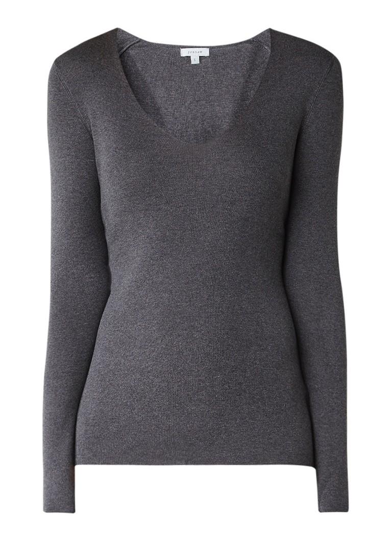 Jigsaw Pullover in zijdeblend met V-hals