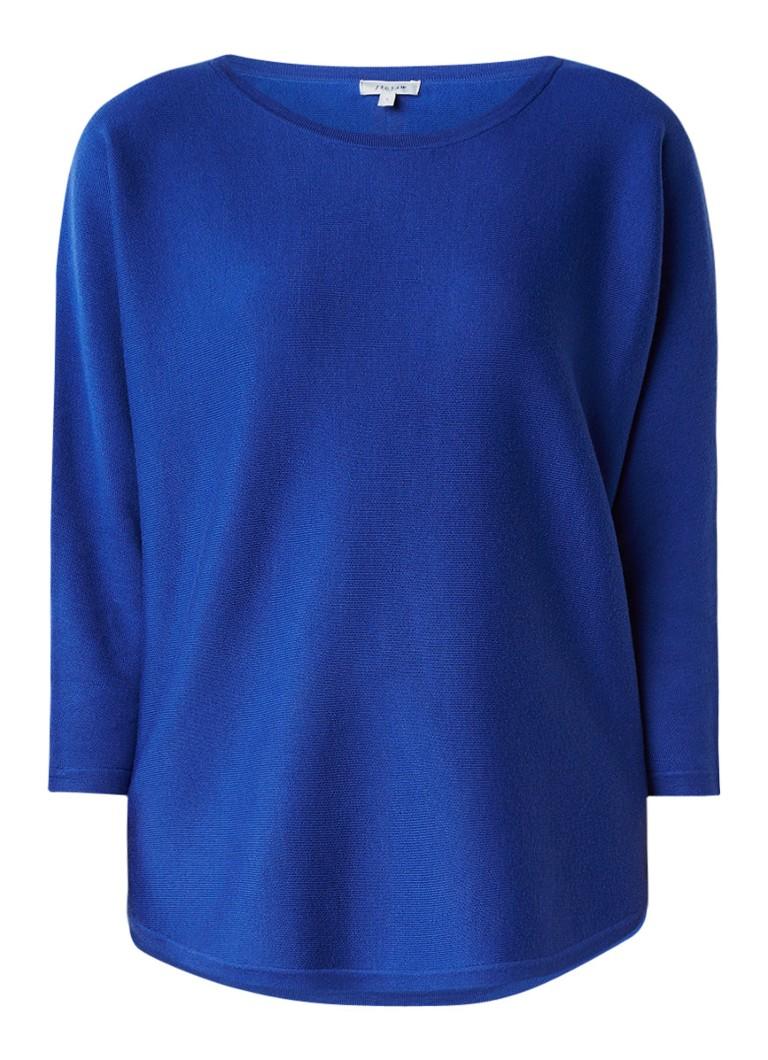 Truien en vesten Jigsaw Loose fit pullover in wolblend Kobaltblauw