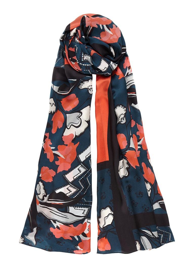 Jigsaw Nordic Floral sjaal van zijde met bloemendessin 180 x 60 cm