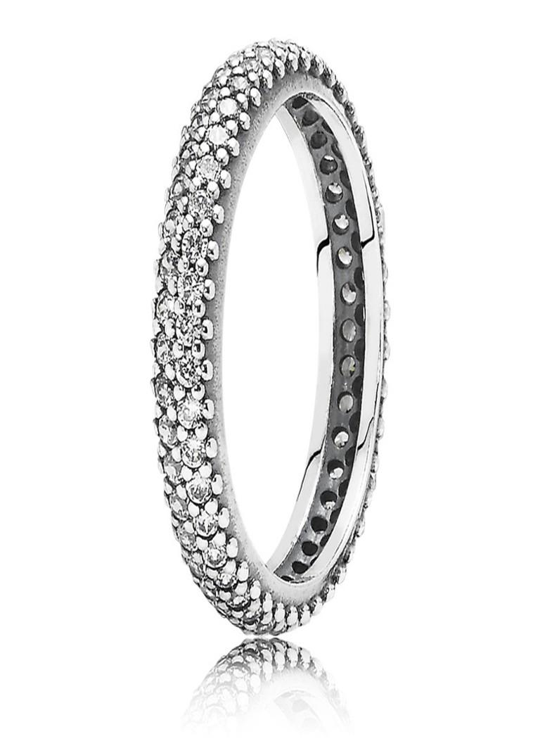 Image of Pandora Gedraaide ring van zilver 190909CZ