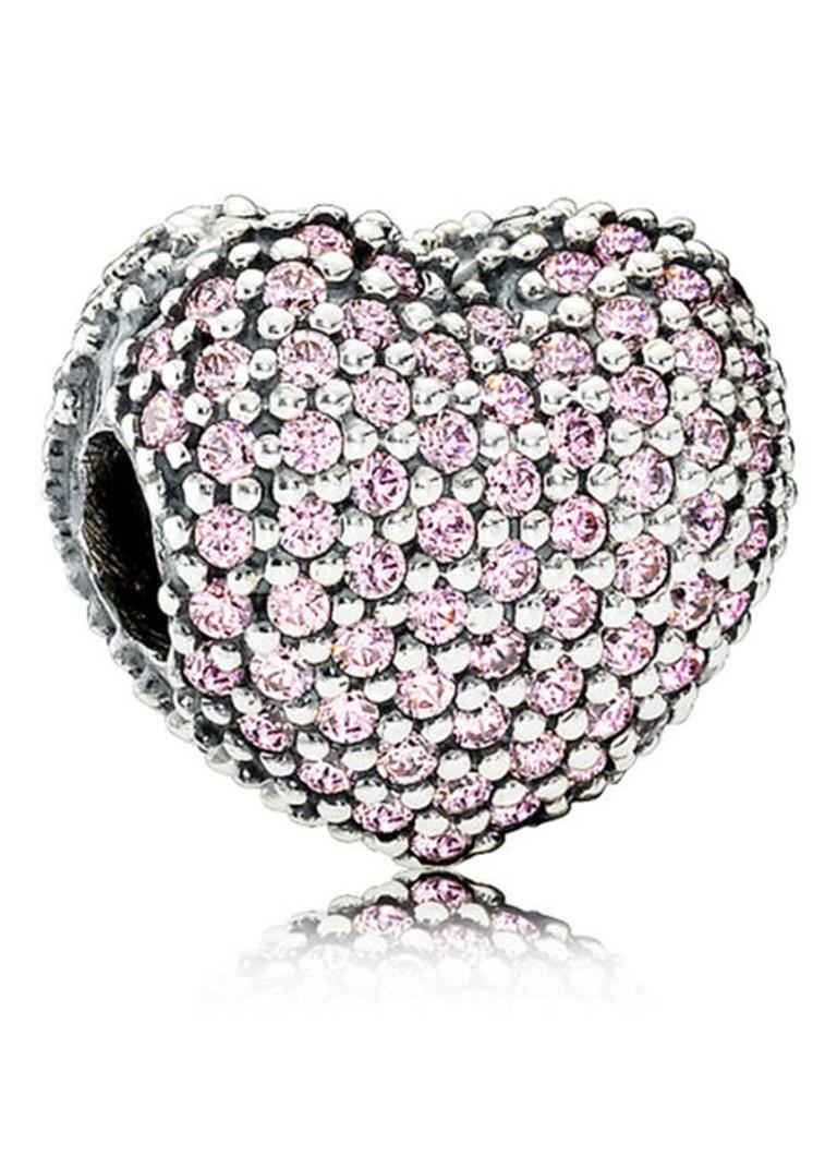 Pandora Bedel roze pavé hart 791427PCZ