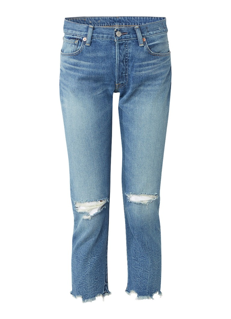 Denim  and  Supply Ralph Lauren High rise cropped jeans met destroyed look