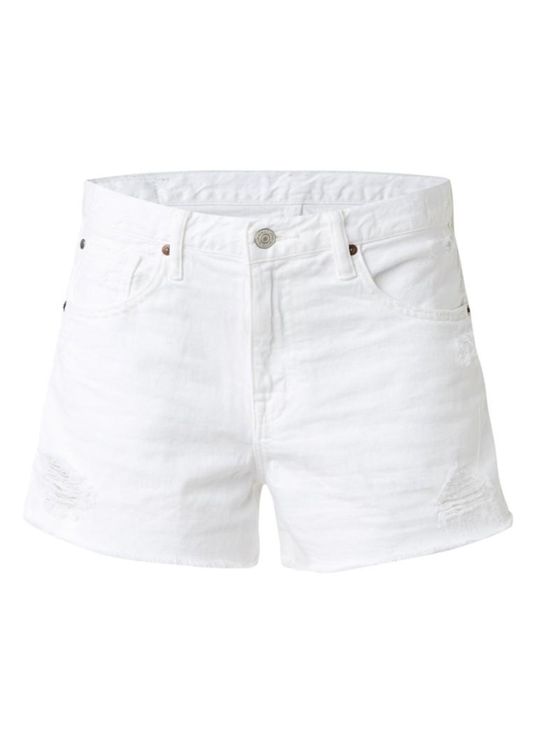 Denim  and  Supply Ralph Lauren High rise shorts van denim met rafelige zoom