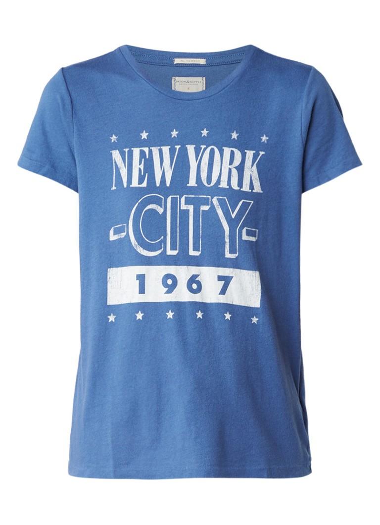 Denim  and  Supply Ralph Lauren T-shirt met vintage print
