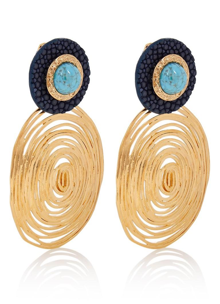 Gas Bijoux Aworana oorclips met 24k gouden plating