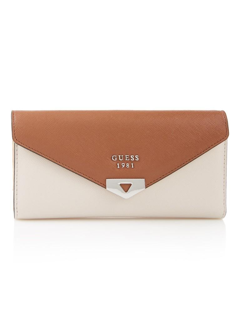 Portemonnees GUESS Lottie portemonnee met merkembleem Gebroken wit