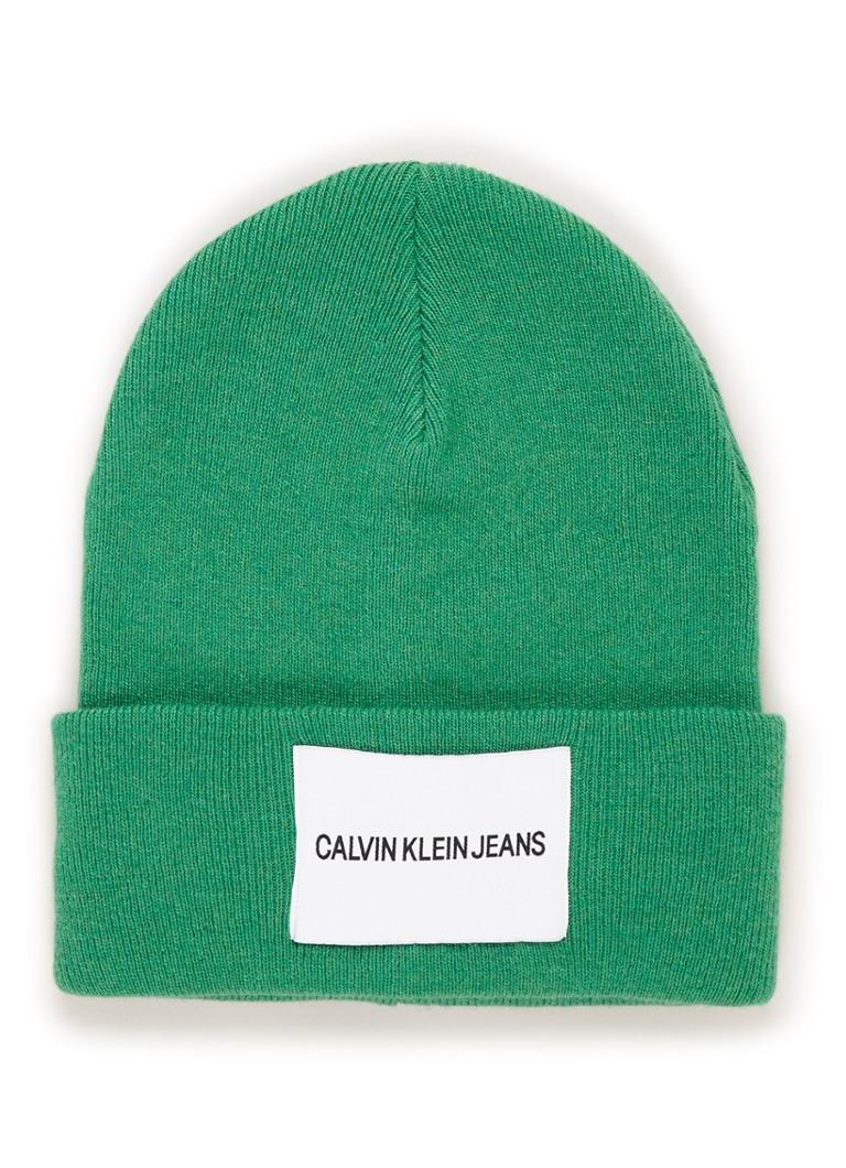 Calvin Klein Muts in kasjmierblend met logo