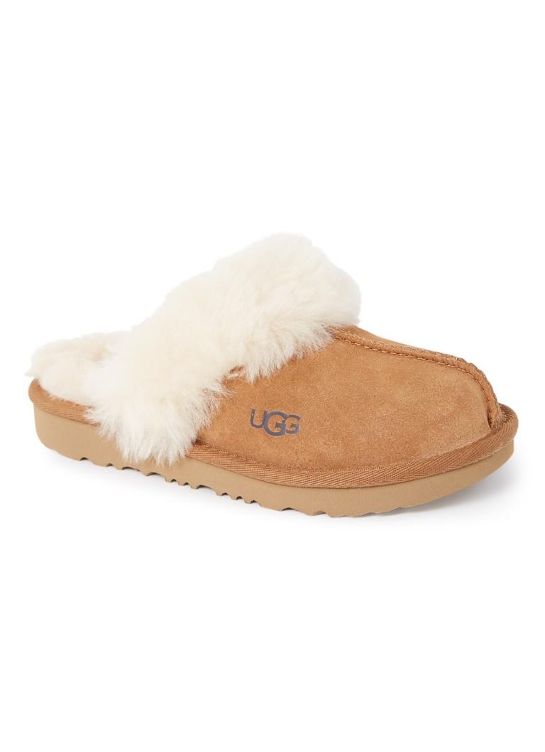 Ugg Cozy II pantoffel van suède en wol