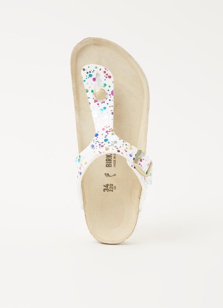 Birkenstock Slipper girls gizeh confetti white narrow-schoenmaat 30 online kopen