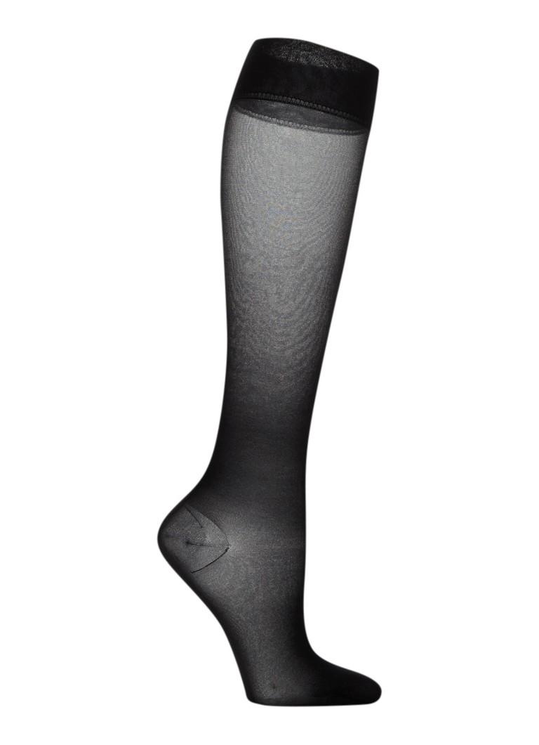Wolford Kniekousen Pure Energy 30 Leg Vitalizer zwart