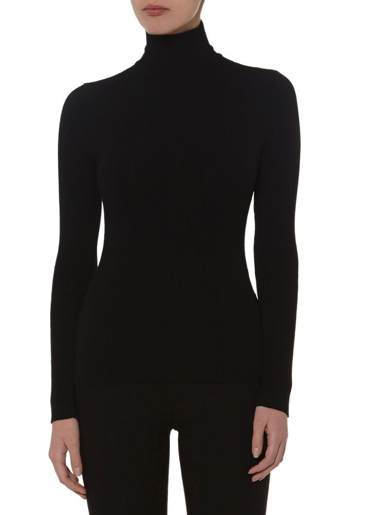 Wolford Zwarte Merino Fine Rib Pullover