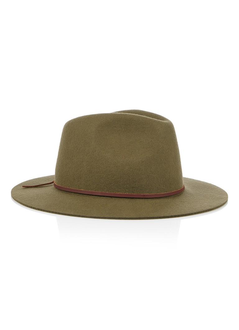Brixton Wesley Fedora hoed van wol thumbnail