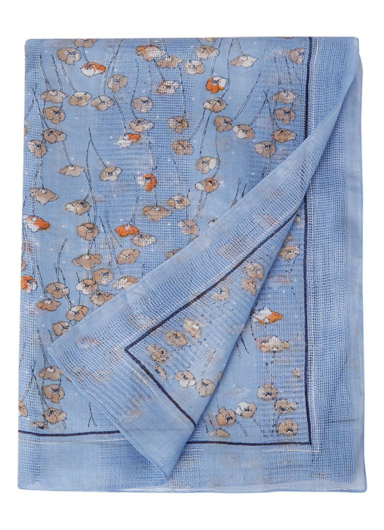 Becksöndergaard Shelby sjaal met bloemendessin 195 x 105 cm