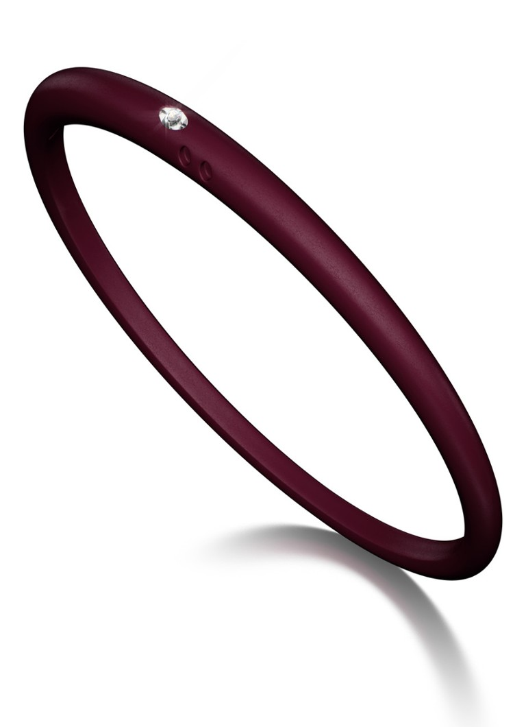 Due Punti Solitair armband bordeaux rood