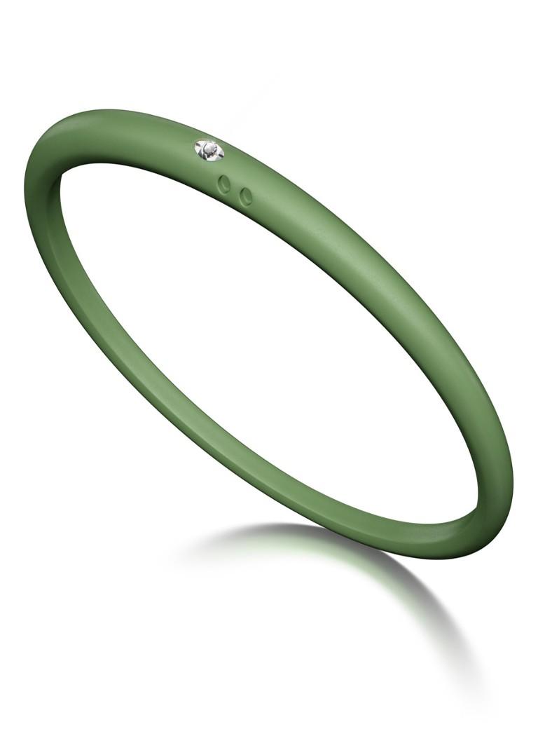 Due Punti Solitair armband groen