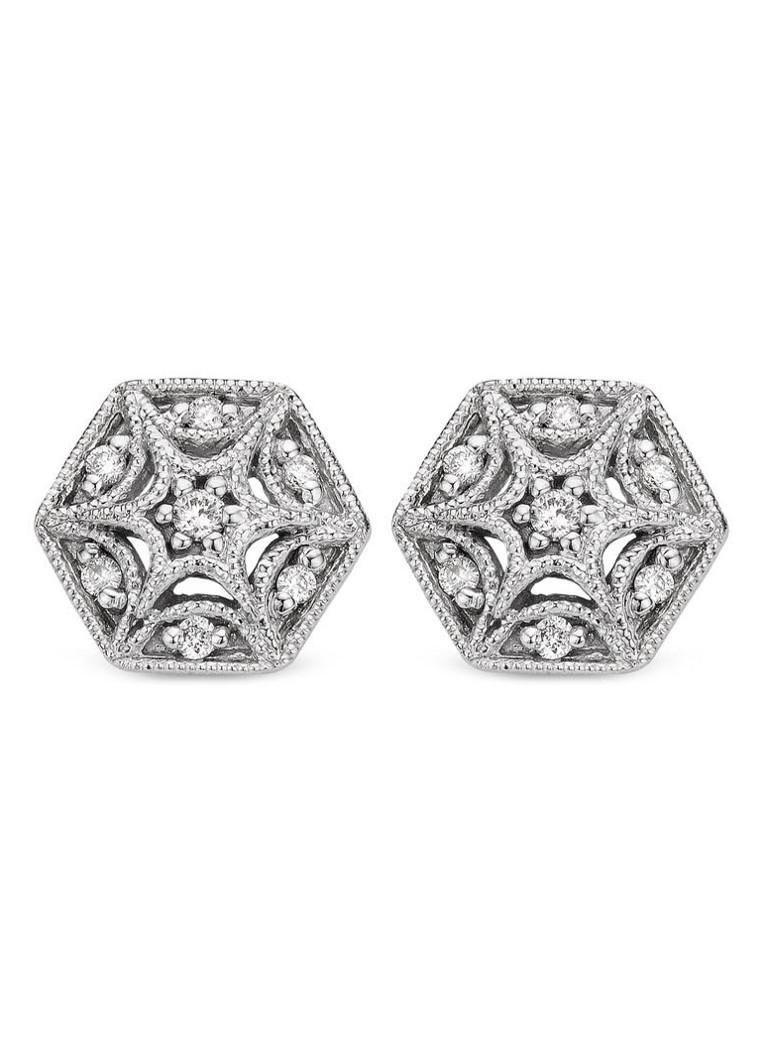 Diamond Point Witgouden oorsieraden 0.08 ct diamant Since 1904