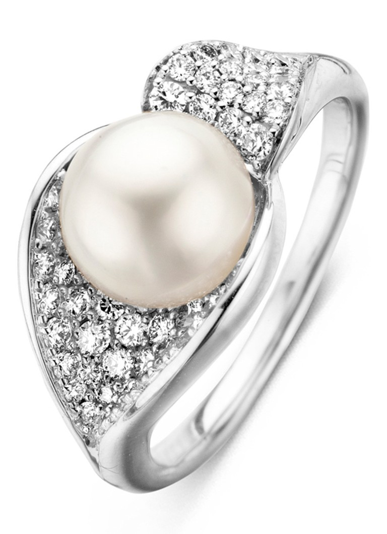 Diamond Point Ring Beauties of the sea met parel