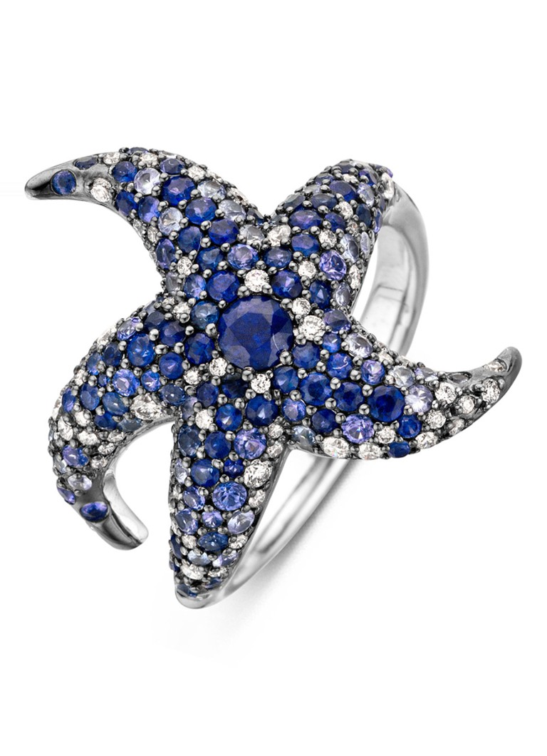 Diamond Point Beauties of the sea witgouden ring