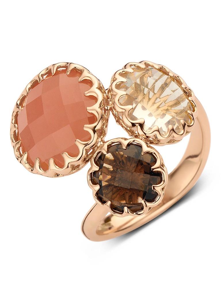 Sieraden Diamond Point Earth roségouden ring Oranjebruin