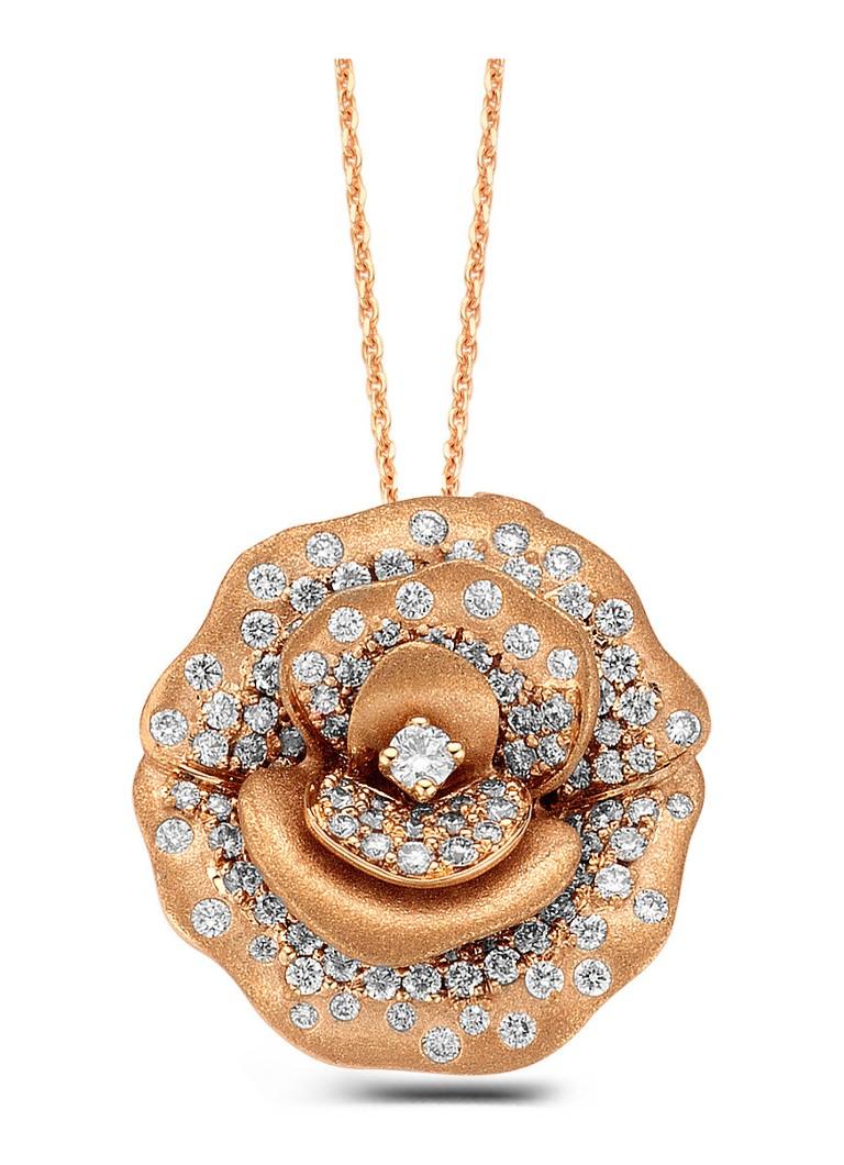 Diamond Point Roségouden hanger 0.55 ct diamant Beauties of the Sea