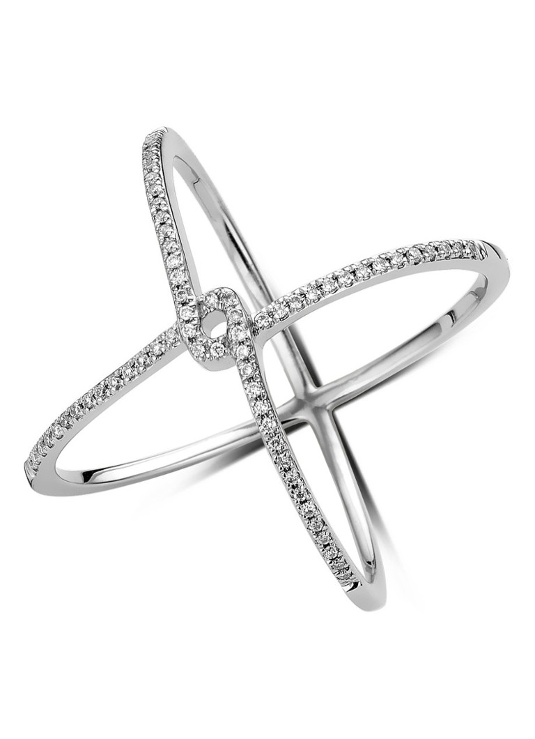 Diamond Point Like a star witgouden ring