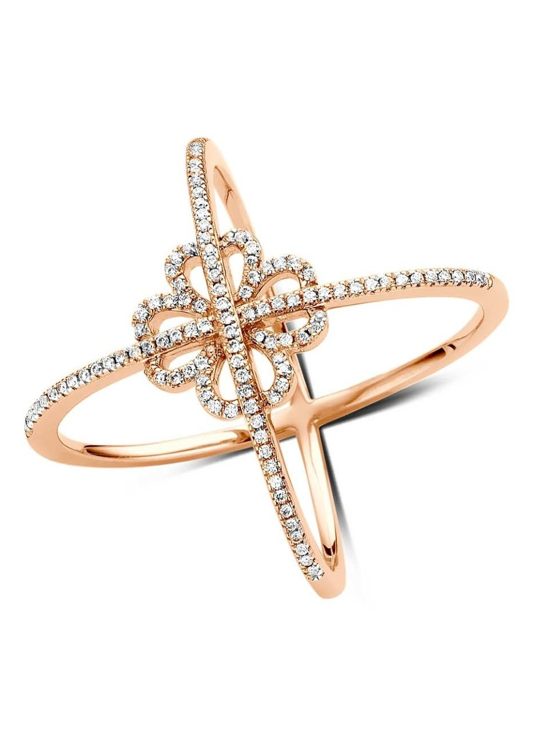 Diamond Point Like a star roségouden ring