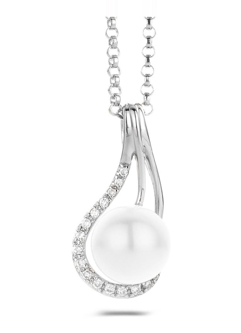 Diamond Point Witgouden hanger 0.04 ct diamant Grace