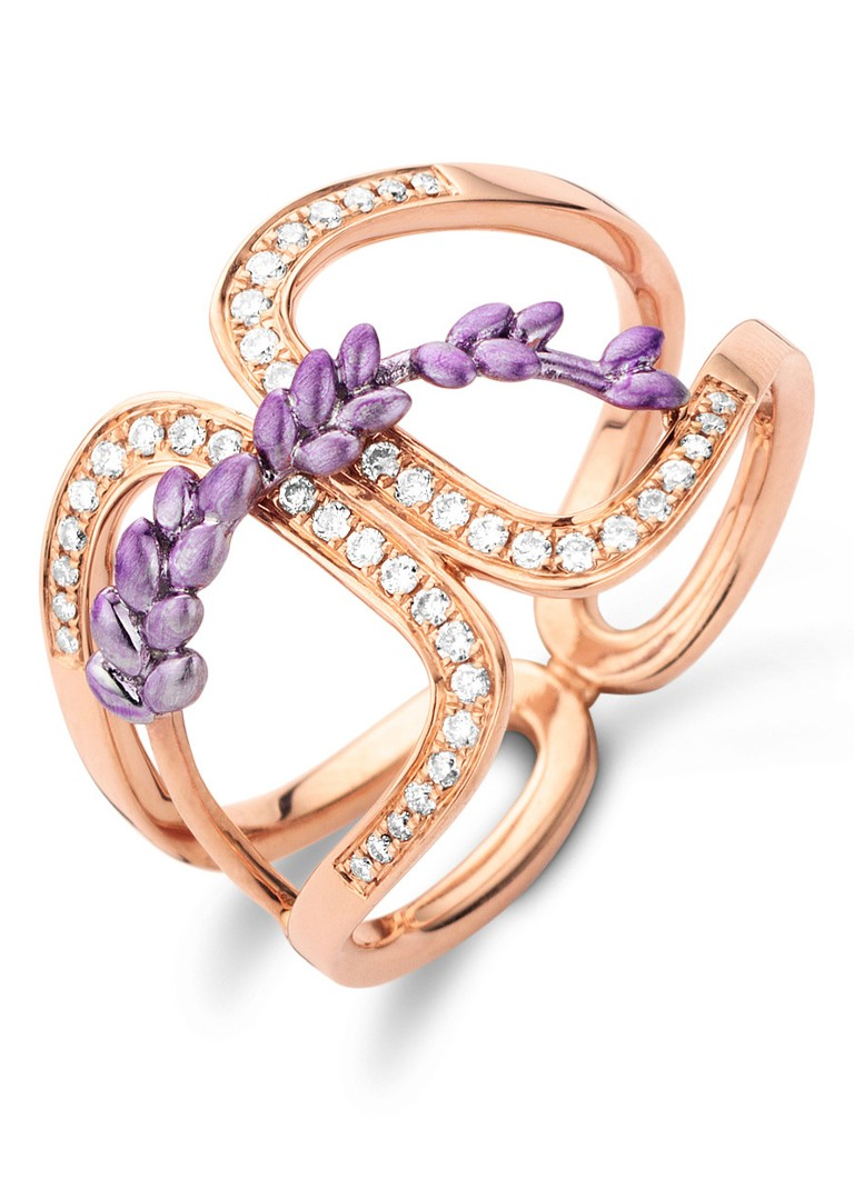 Diamond Point Lavender roségouden ring