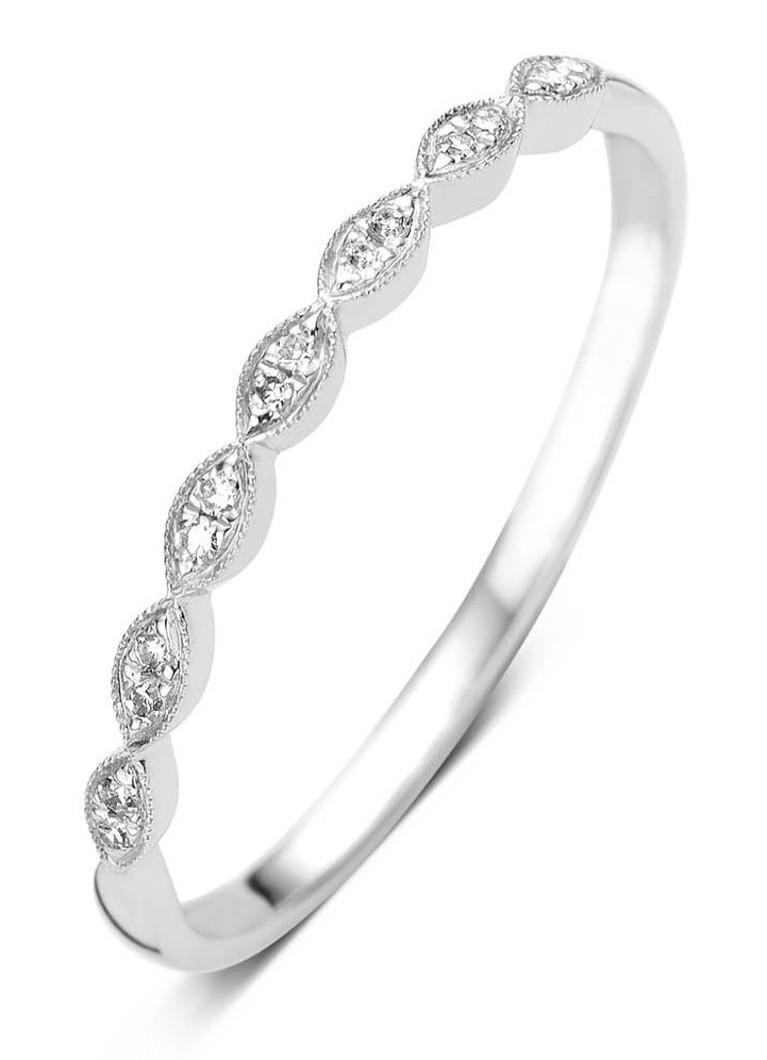 Diamond Point Vintage witgouden ring