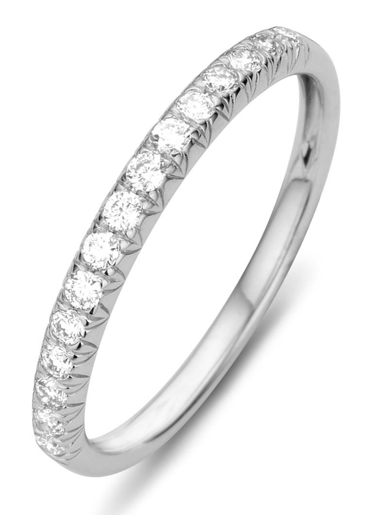 Diamond Point Pavé witgouden ring